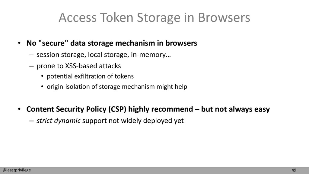 49 @leastprivilege Access Token Storage in Brow...