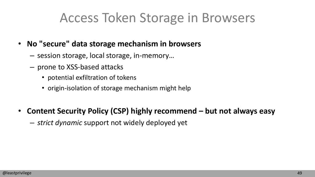 49 @leastprivilege Access Token Storage in Brow...