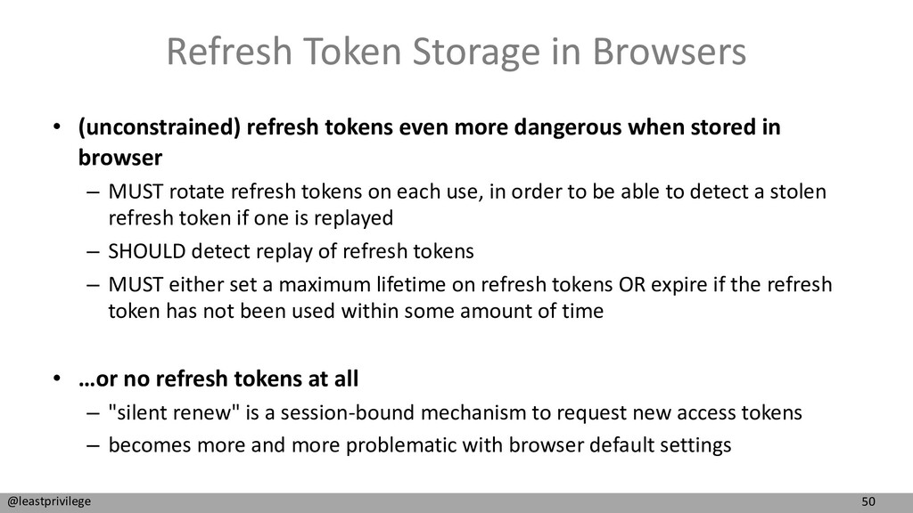 50 @leastprivilege Refresh Token Storage in Bro...