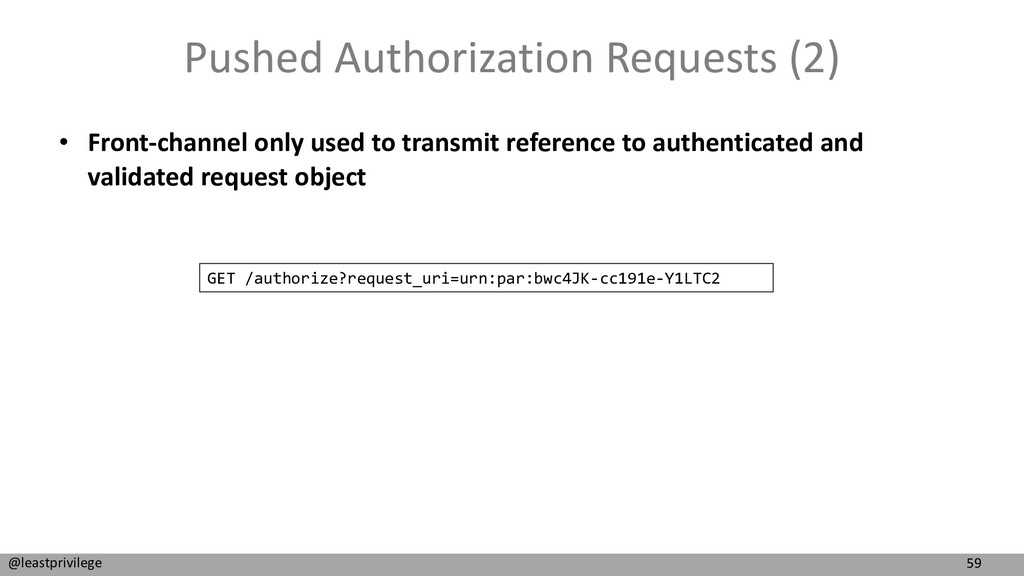 59 @leastprivilege Pushed Authorization Request...
