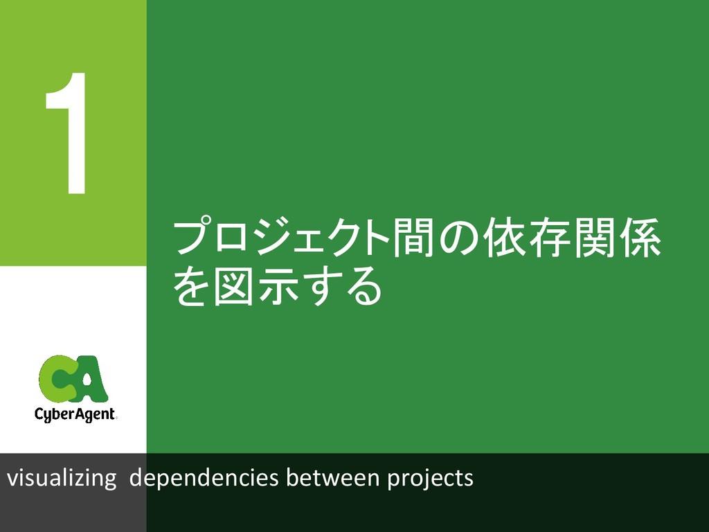 プロジェクト間の依存関係 を図示する visualizing dependencies bet...