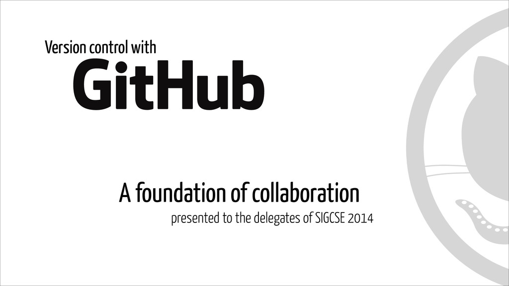 A foundation of collaboration presented to the ...
