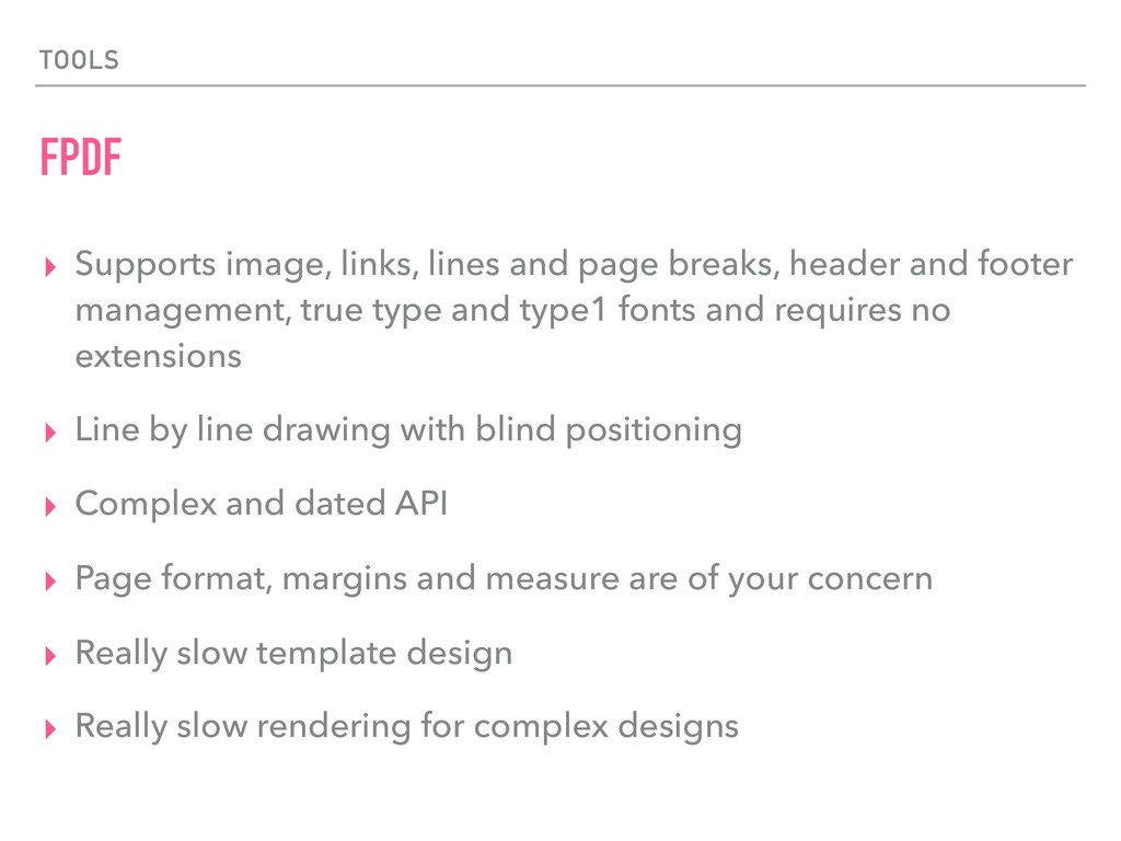 TOOLS FPDF ▸ Supports image, links, lines and p...
