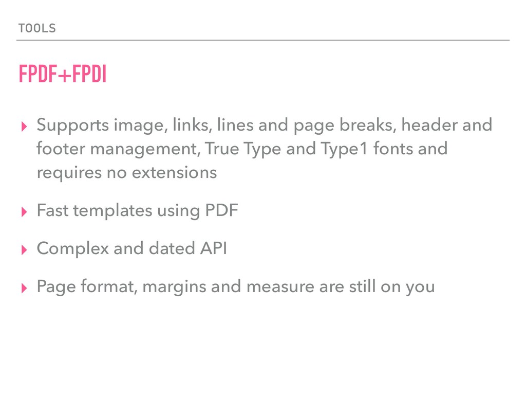 TOOLS FPDF+FPDI ▸ Supports image, links, lines ...