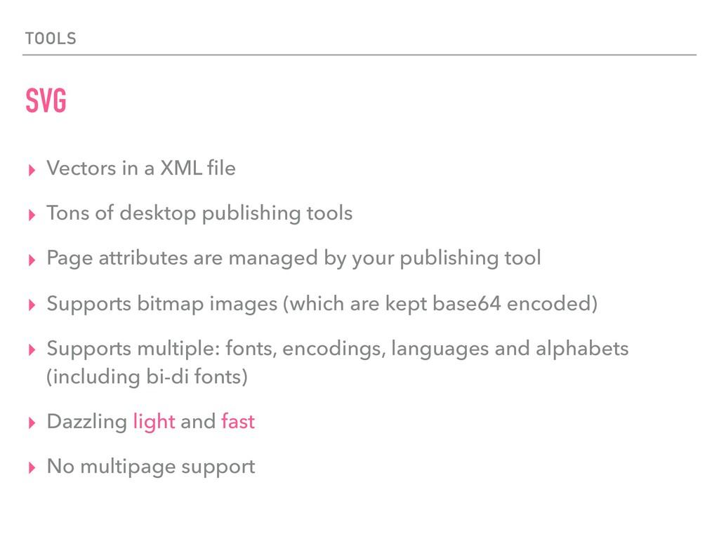 TOOLS SVG ▸ Vectors in a XML file ▸ Tons of desk...