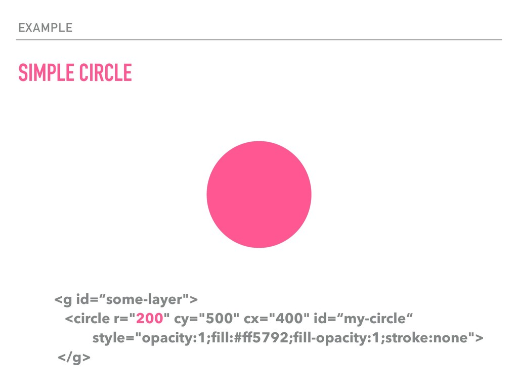 """EXAMPLE SIMPLE CIRCLE <g id=""""some-layer""""> <circ..."""