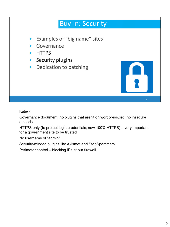 Katie - Governance document: no plugins that ar...