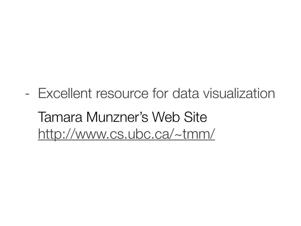 - Excellent resource for data visualization Tam...