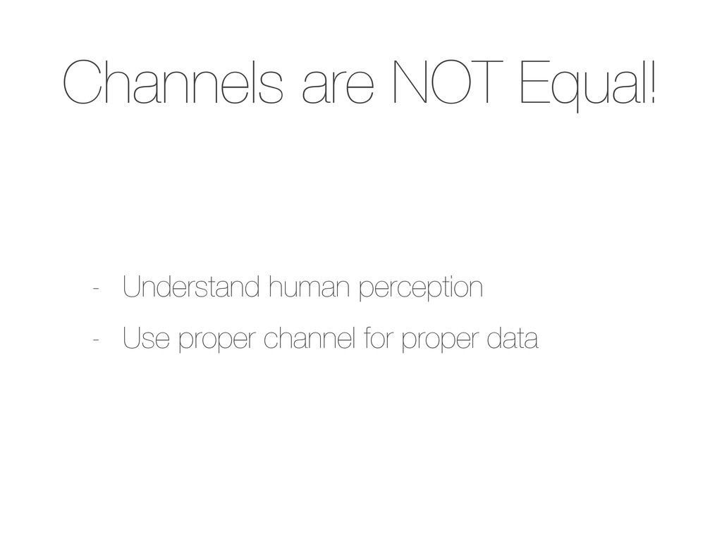 Channels are NOT Equal! - Understand human perc...