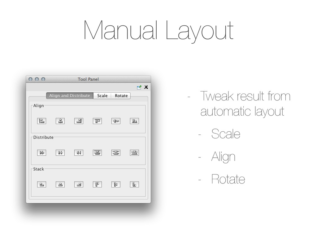Manual Layout - Tweak result from automatic lay...