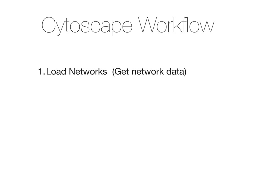 1.Load Networks (Get network data) Cytoscape W...
