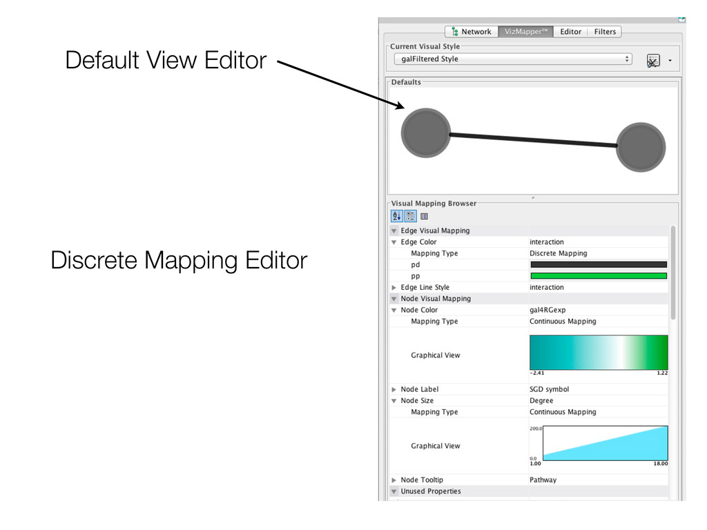 Default View Editor Discrete Mapping Editor