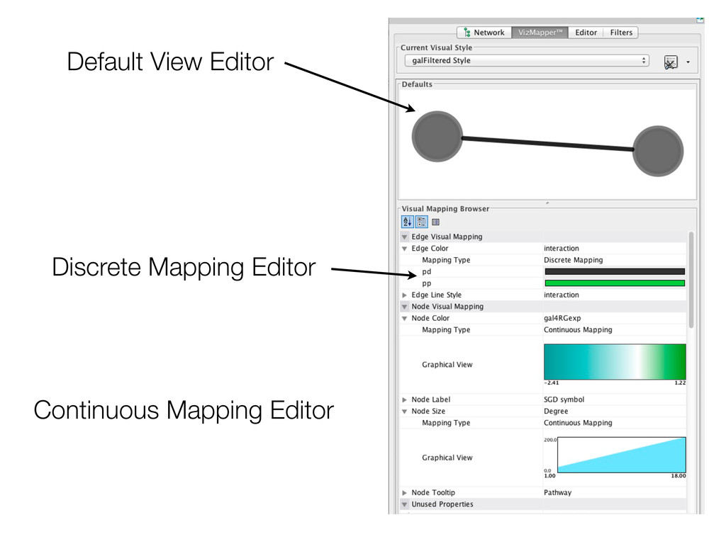 Default View Editor Discrete Mapping Editor Con...