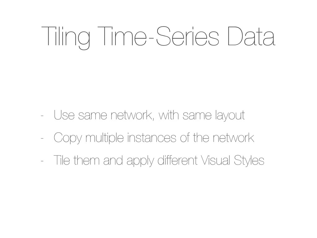 Tiling Time-Series Data - Use same network, wit...