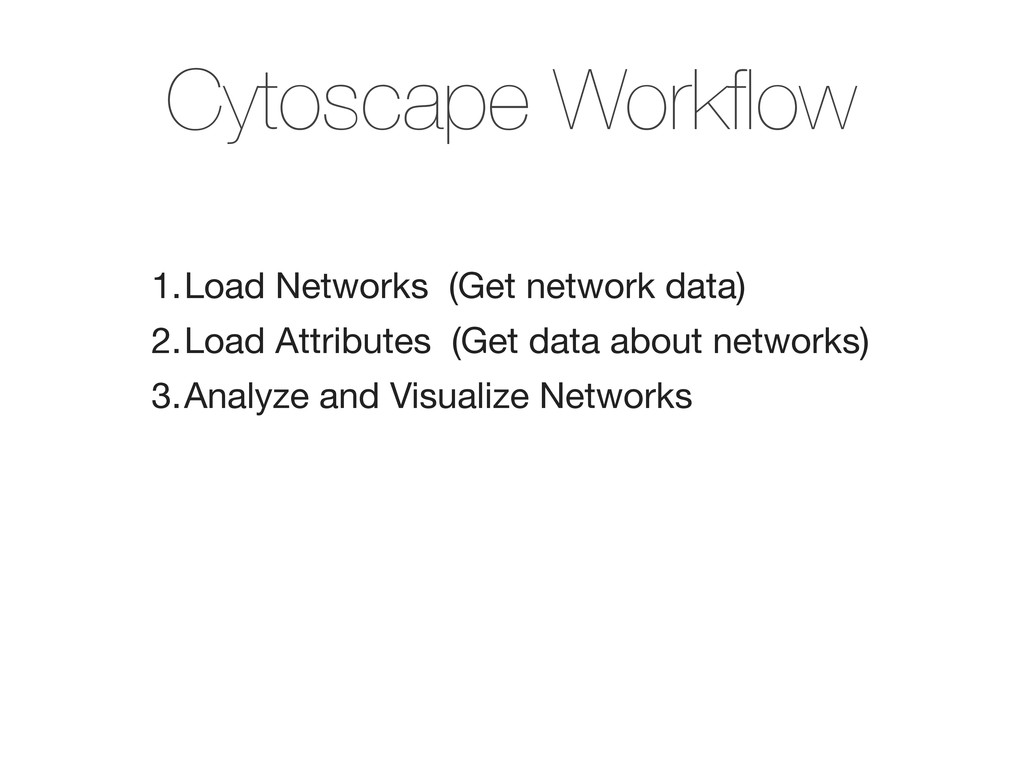1.Load Networks (Get network data)‏ 2.Load Attr...
