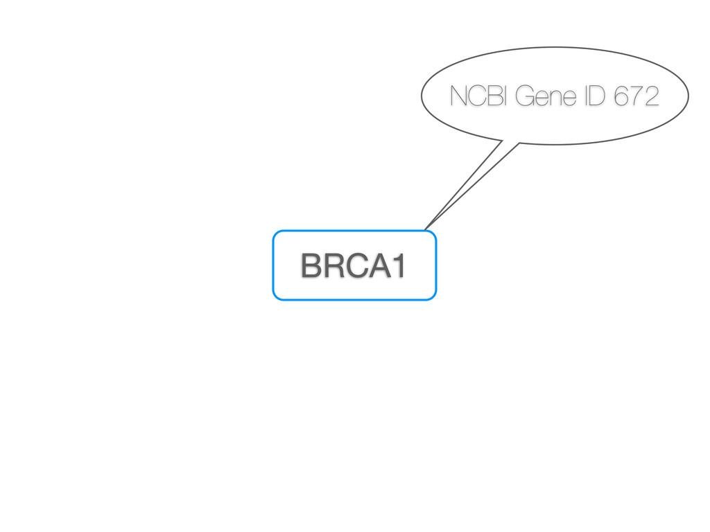 BRCA1 NCBI Gene ID 672