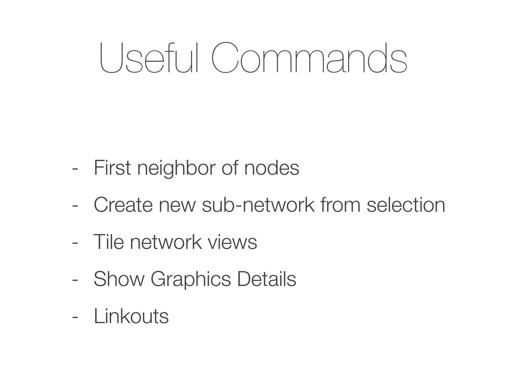 Useful Commands - First neighbor of nodes - Cre...