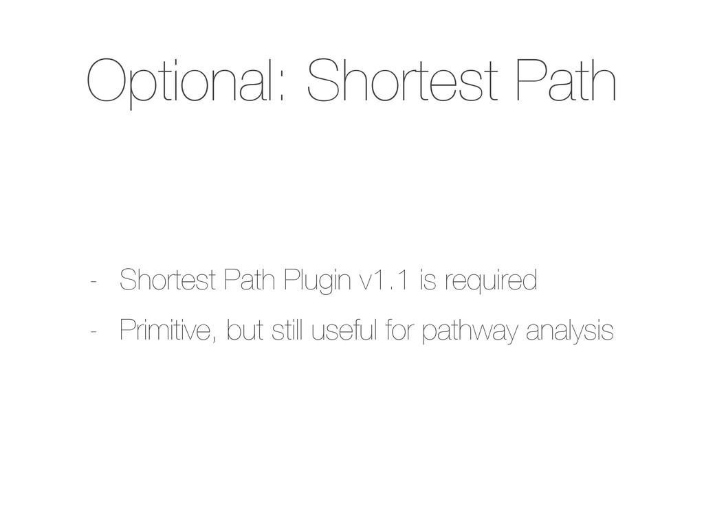Optional: Shortest Path - Shortest Path Plugin ...