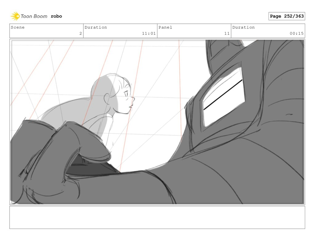 Scene 2 Duration 11:01 Panel 11 Duration 00:15 ...