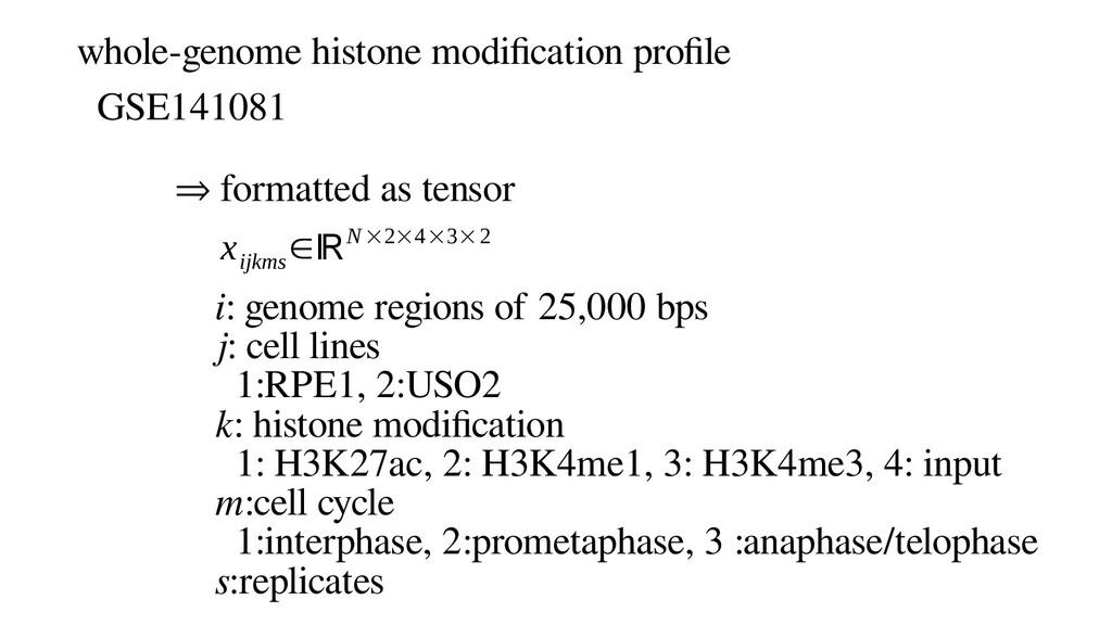whole-genome histone modification profile GSE14...