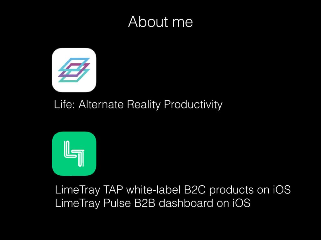 About me Life: Alternate Reality Productivity L...