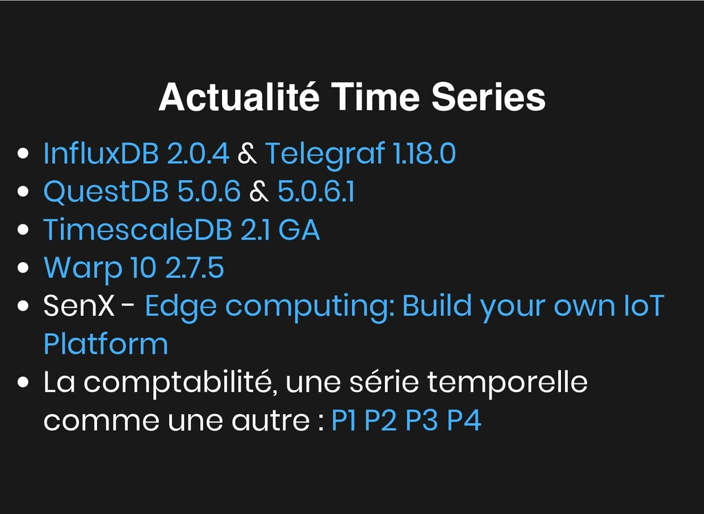 Actualité Time Series Actualité Time Series & &...