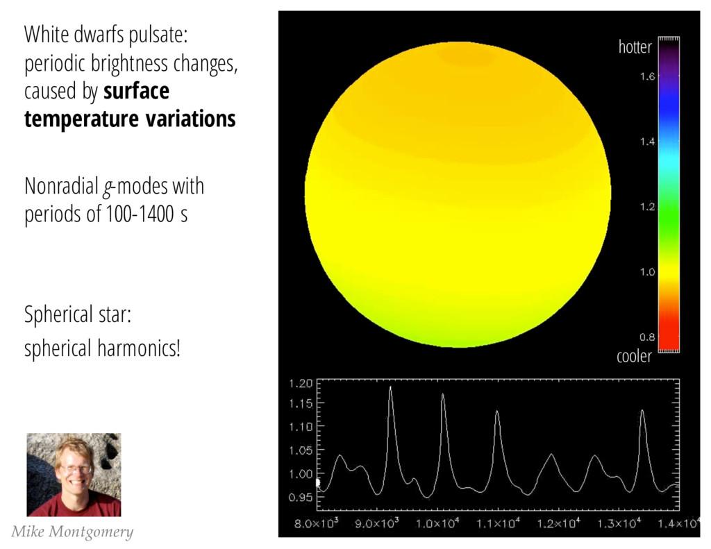 Mike Montgomery White dwarfs pulsate: periodic ...