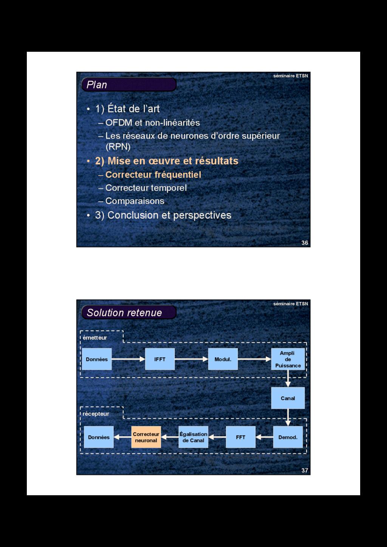 36 séminaire ETSN Plan • 1) État de l'art – OFD...