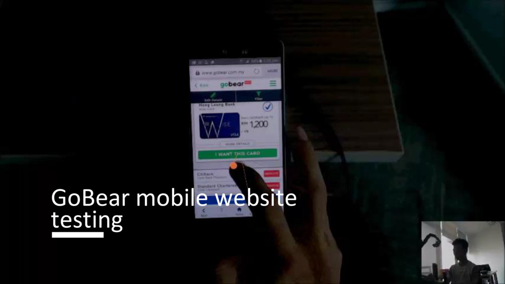 GoBear mobile website testing