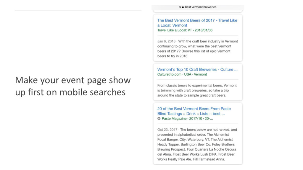 Make your event page show up first on mobile se...