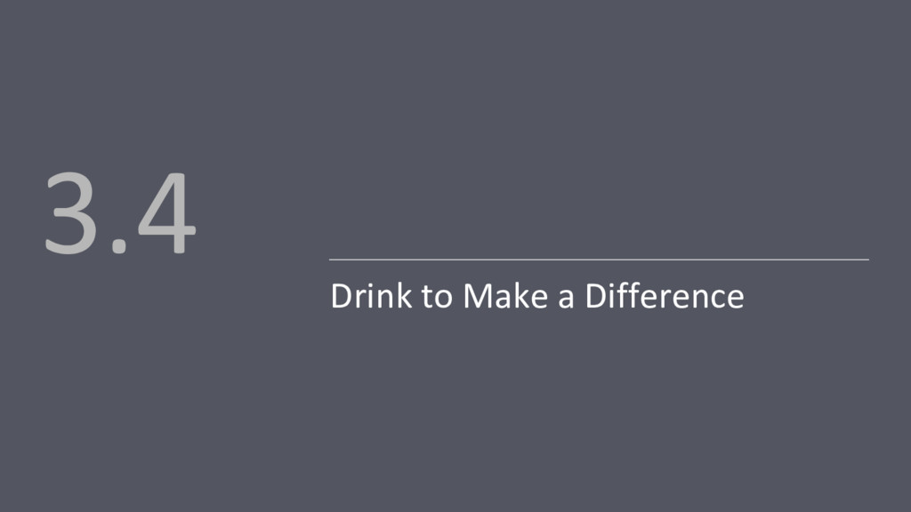 Drink to Make a Difference 3.4