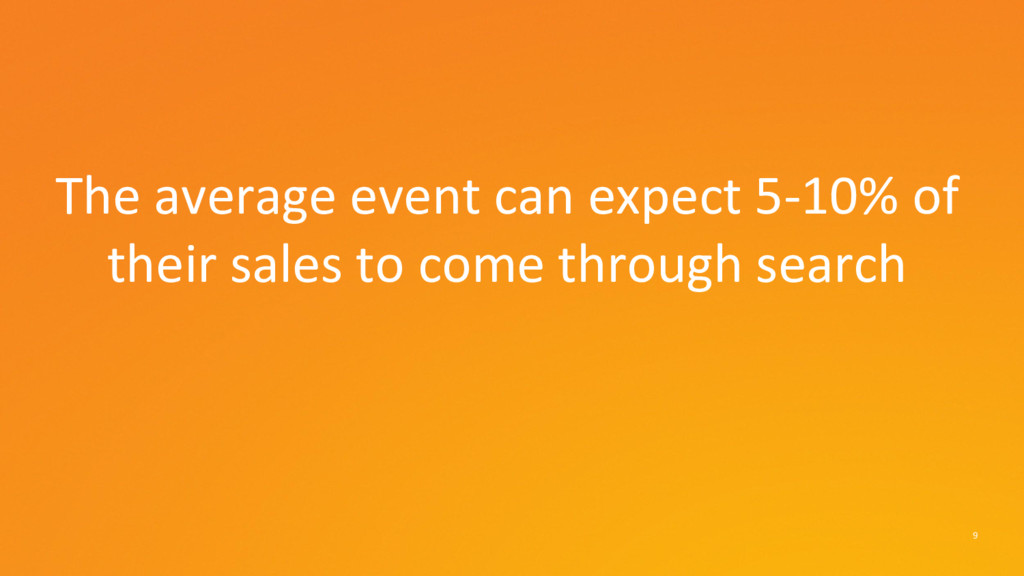 9 The average event can expect 5-10% of their s...