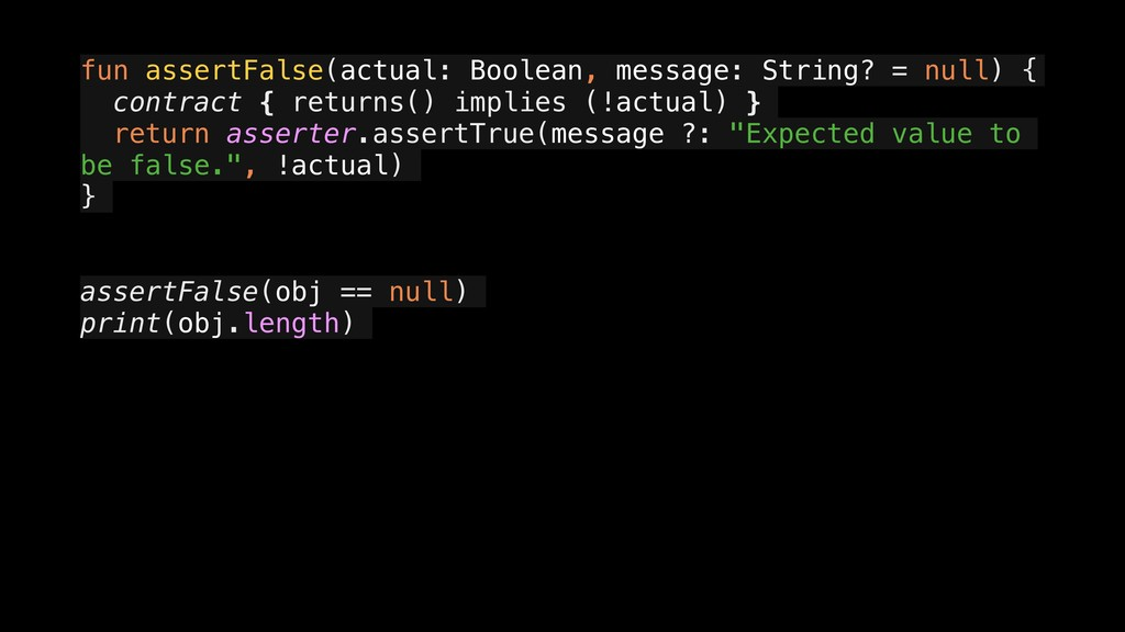 fun assertFalse(actual: Boolean, message: Strin...