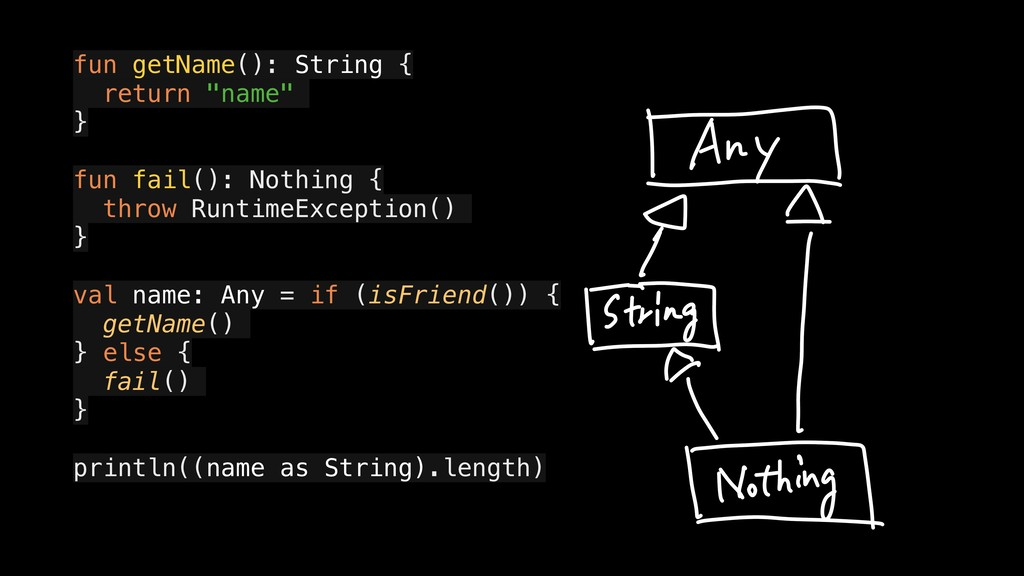 "fun getName(): String { a return ""name"" } a fun..."