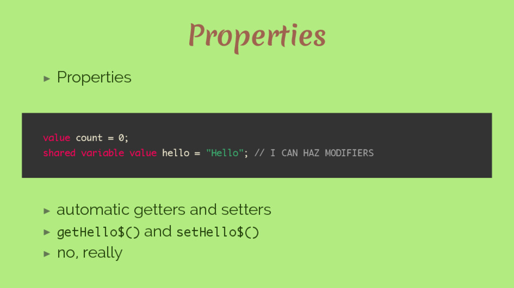 Properties ▶ Properties value count = 0; shared...