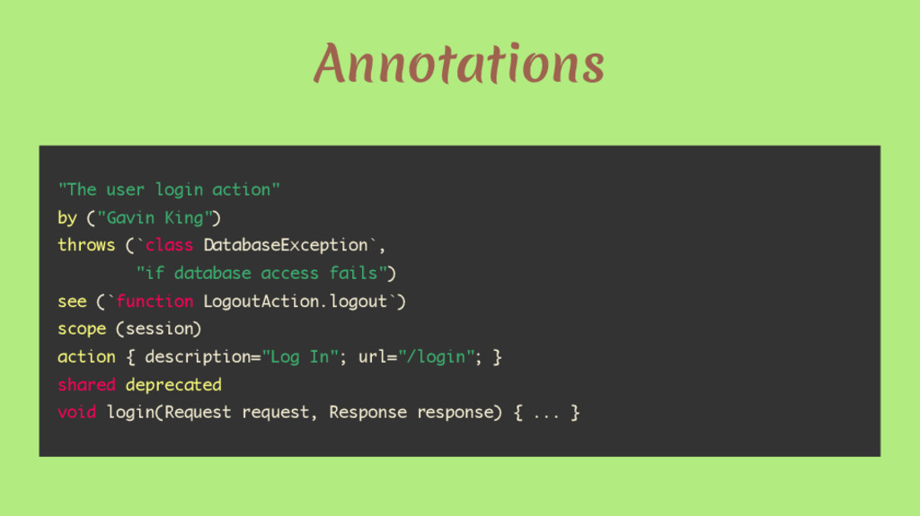 "Annotations ""The user login action"" by (""Gavin ..."