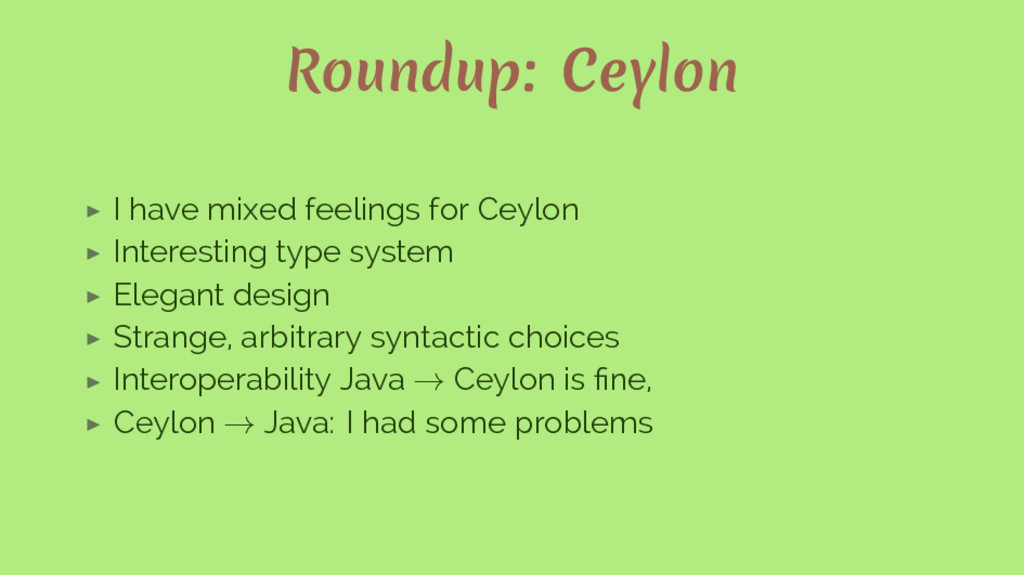 Roundup: Ceylon ▶ I have mixed feelings for Cey...