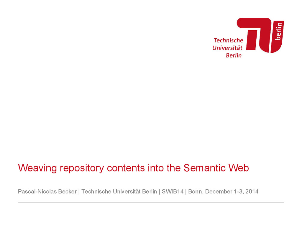 Weaving repository contents into the Semantic W...