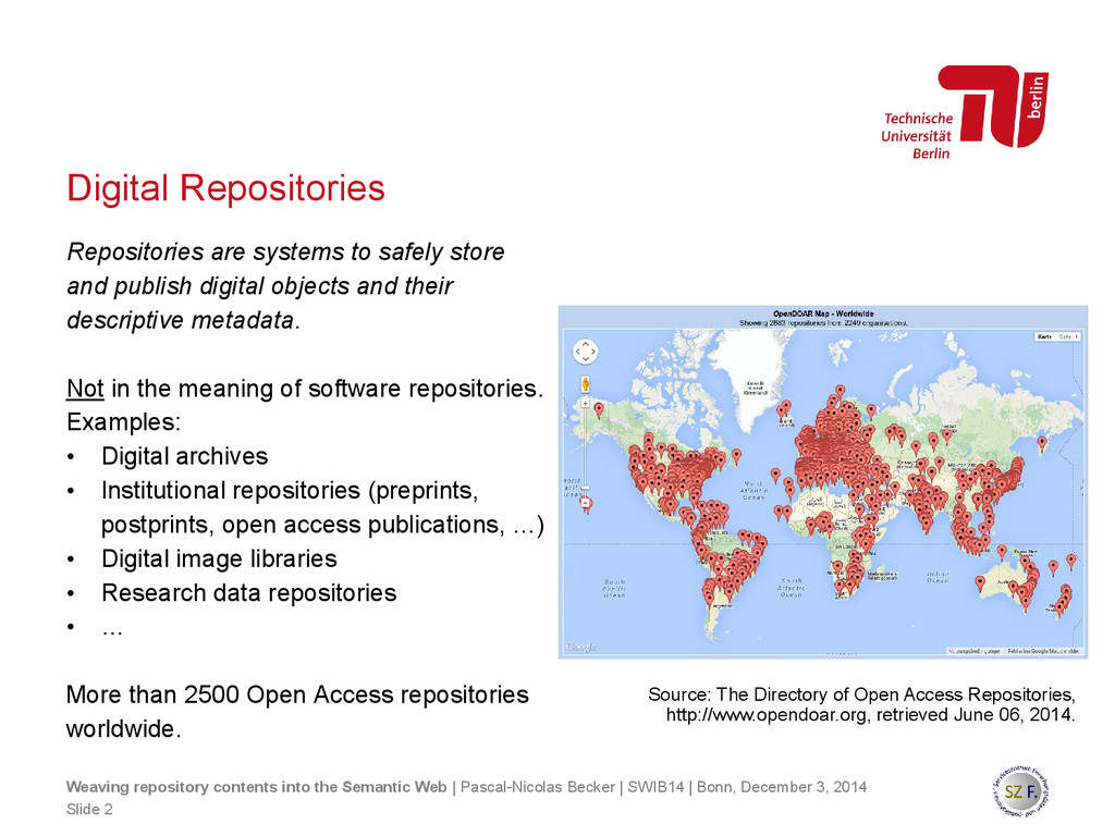 Digital Repositories Weaving repository content...
