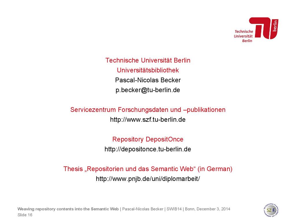 Technische Universität Berlin Universitätsbibli...
