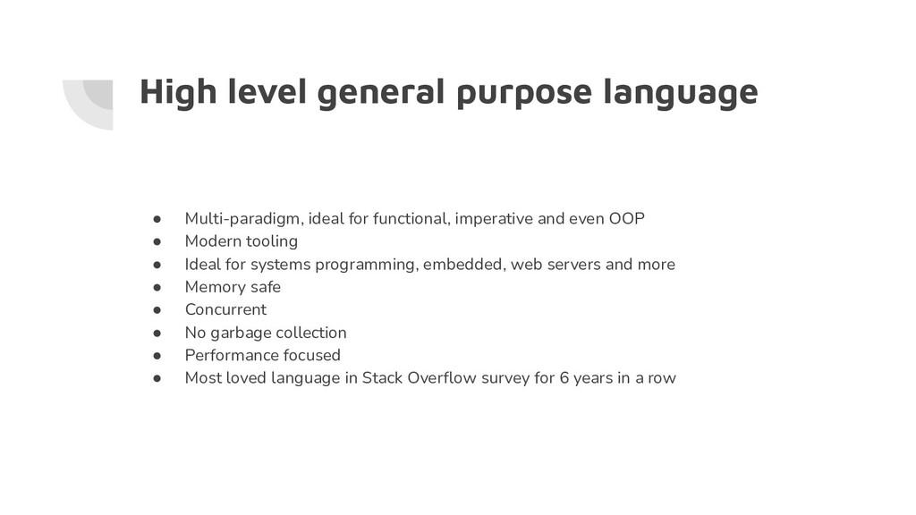 High level general purpose language ● Multi-par...