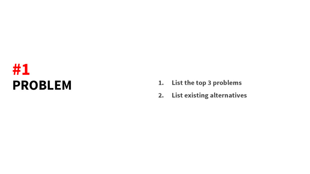 PROBLEM 1. List the top 3 problems 2. List exis...