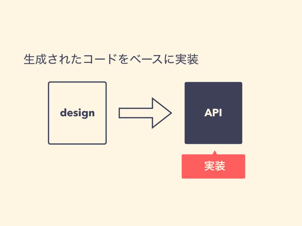 ੜ͞ΕͨίʔυΛϕʔεʹ࣮ design API ࣮