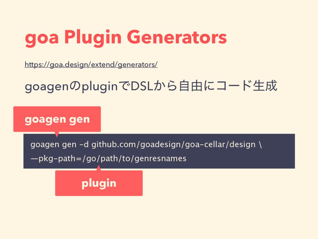goa Plugin Generators https://goa.design/extend...