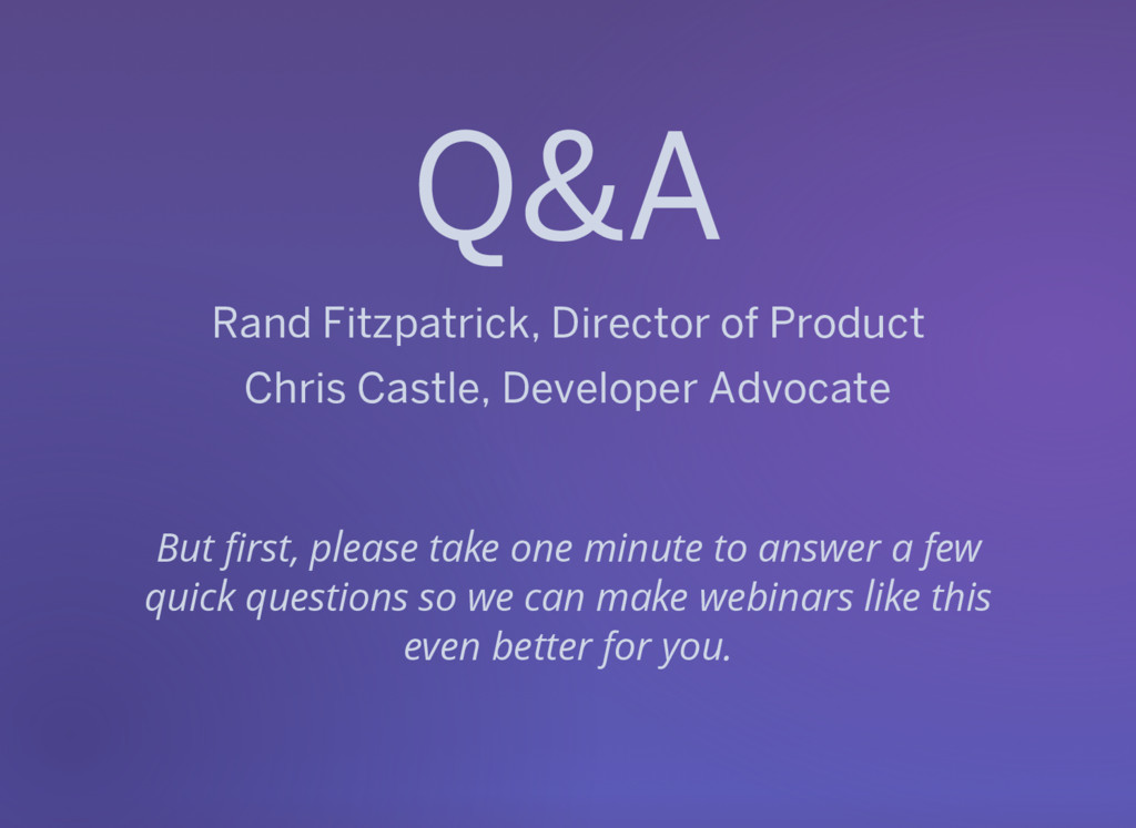 Q&A Rand Fitzpatrick, Director of Product Chris...