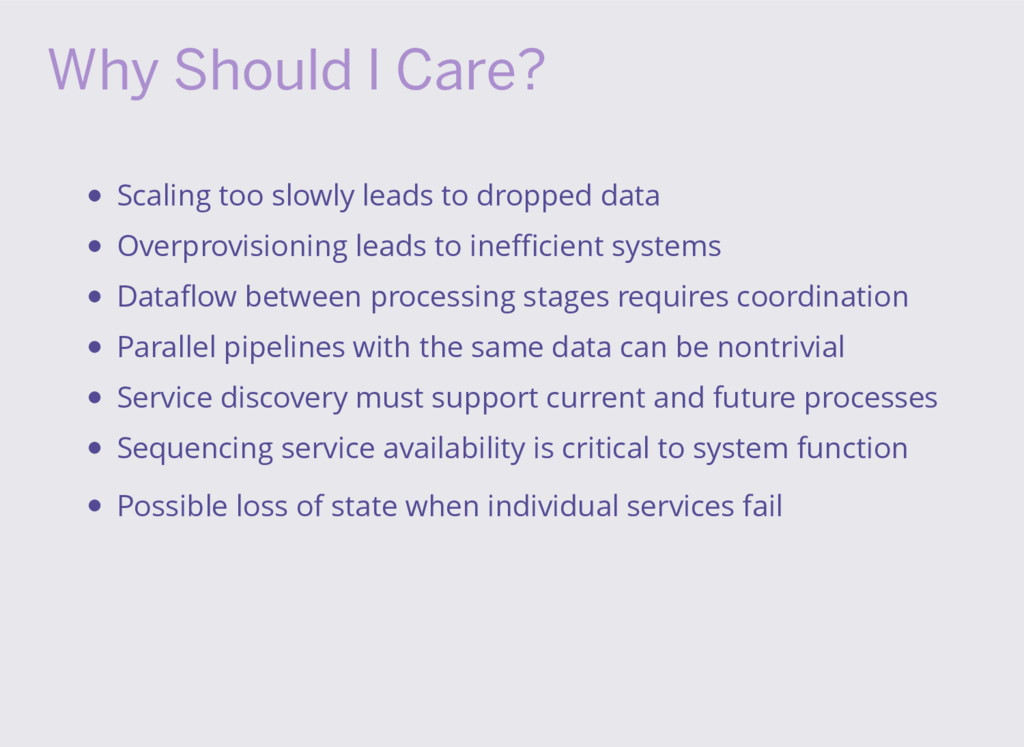 Why Should I Care? Scaling too slowly leads to ...