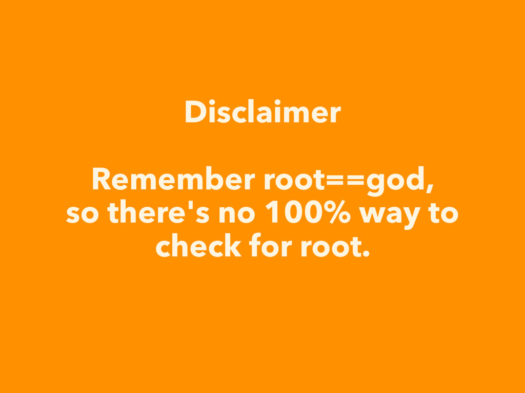 Disclaimer Remember root==god, so there's no 10...