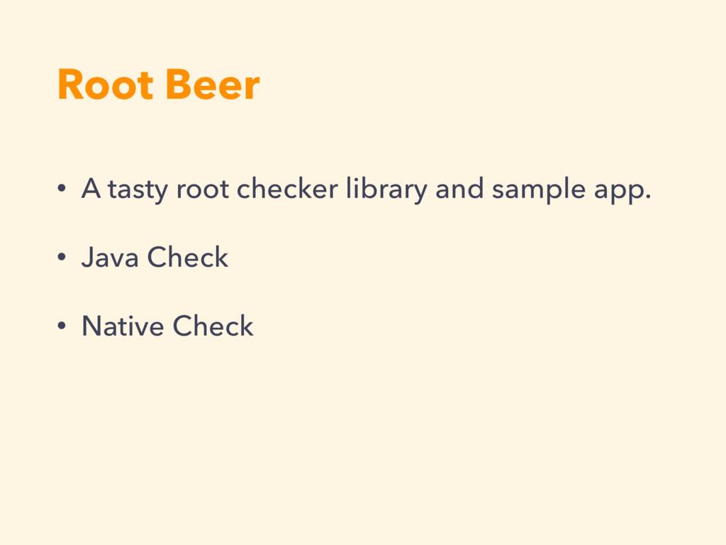 Root Beer • A tasty root checker library and sa...