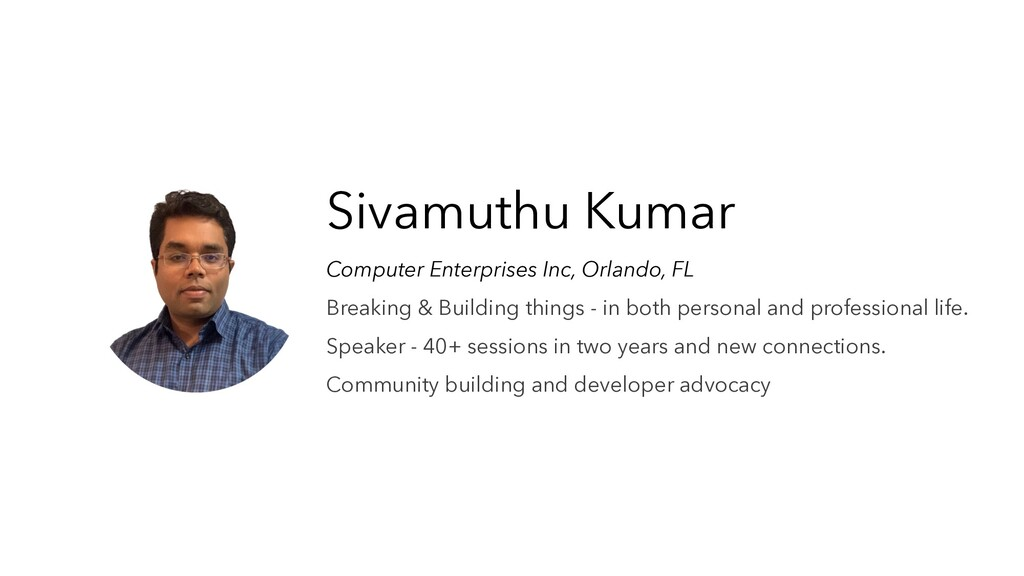 Sivamuthu Kumar Computer Enterprises Inc, Orlan...