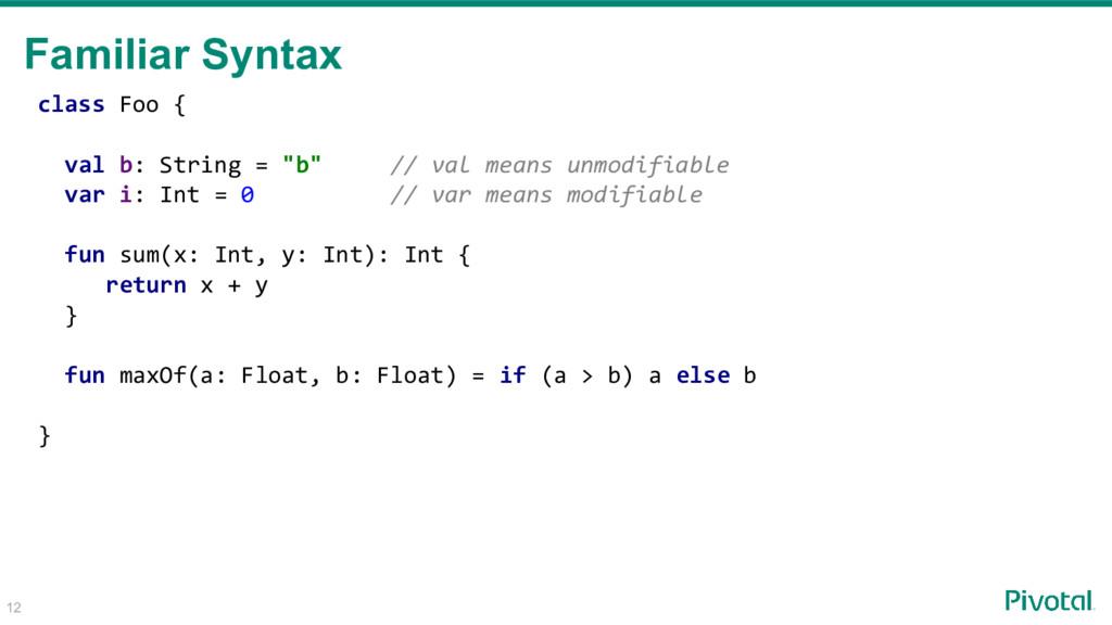 "class Foo { val b: String = ""b"" // val means un..."